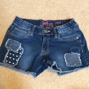 Lee girls denim cutoff shorts